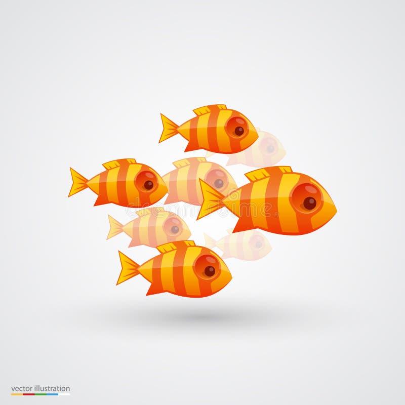 Paquete de pescados Vector ilustración del vector