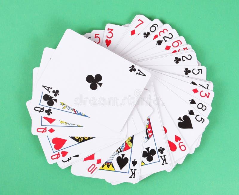 Paquete de tarjetas que juegan fotografía de archivo libre de regalías
