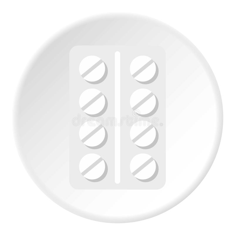 Paquete del círculo del icono de las píldoras stock de ilustración