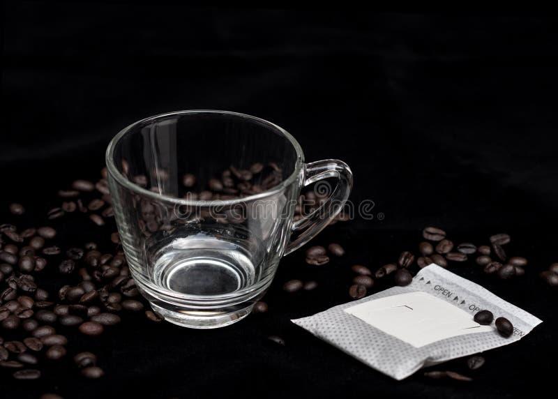 Paquete del café del goteo imágenes de archivo libres de regalías