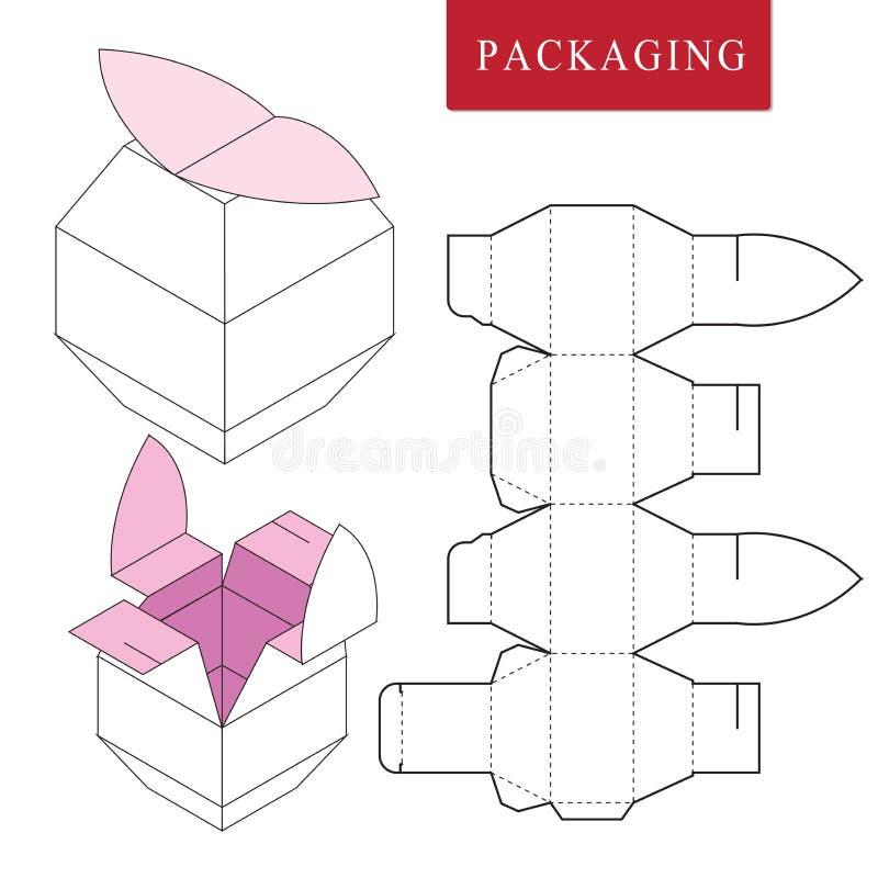 Paquete del concepto de la fruta Ejemplo del vector de la caja libre illustration