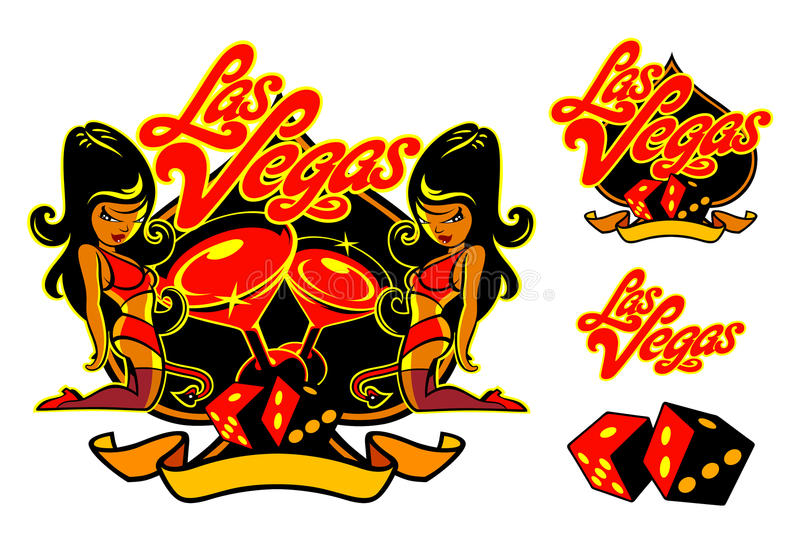 Paquete del gemelo de Vegas fotografía de archivo