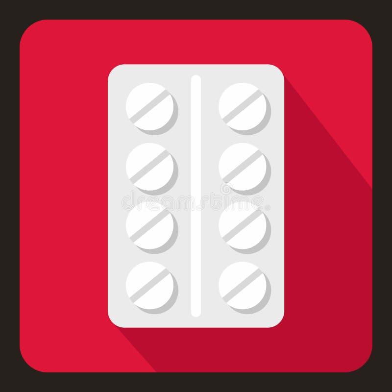 Paquete del icono de las píldoras, estilo plano libre illustration