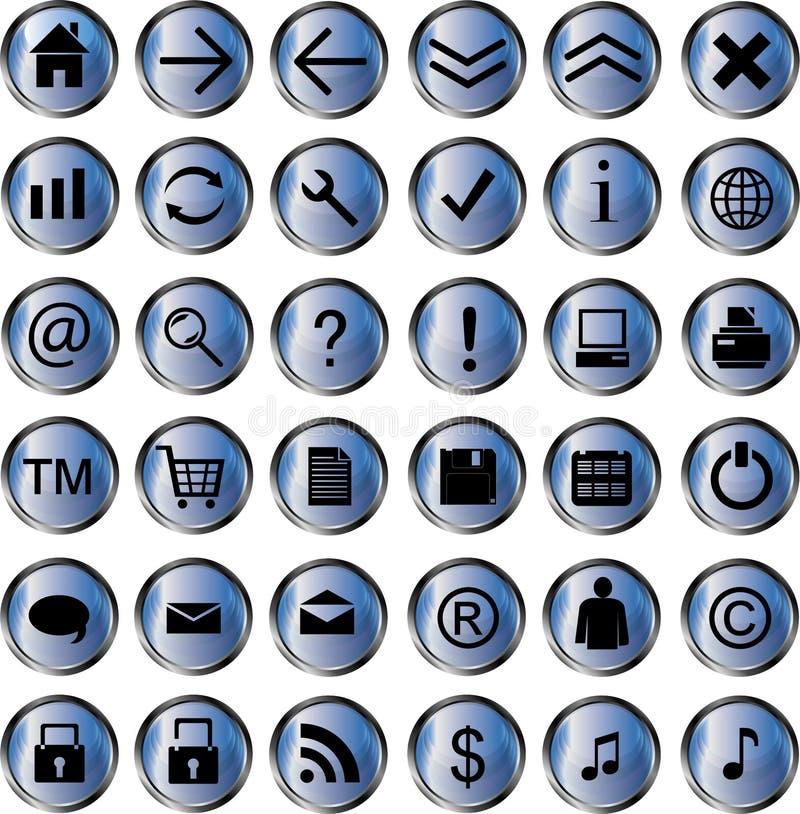 Paquete del icono del Web ilustración del vector