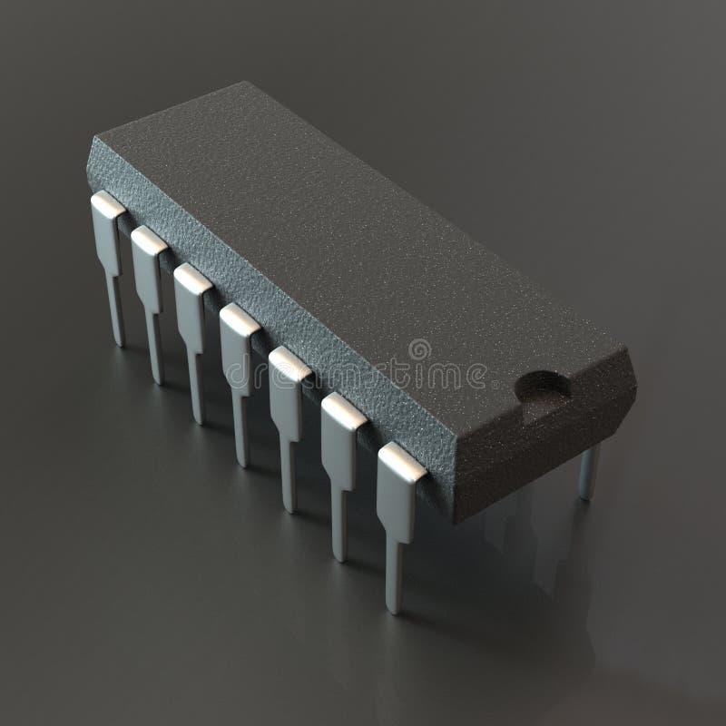 Paquete del microprocesador de la INMERSIÓN stock de ilustración