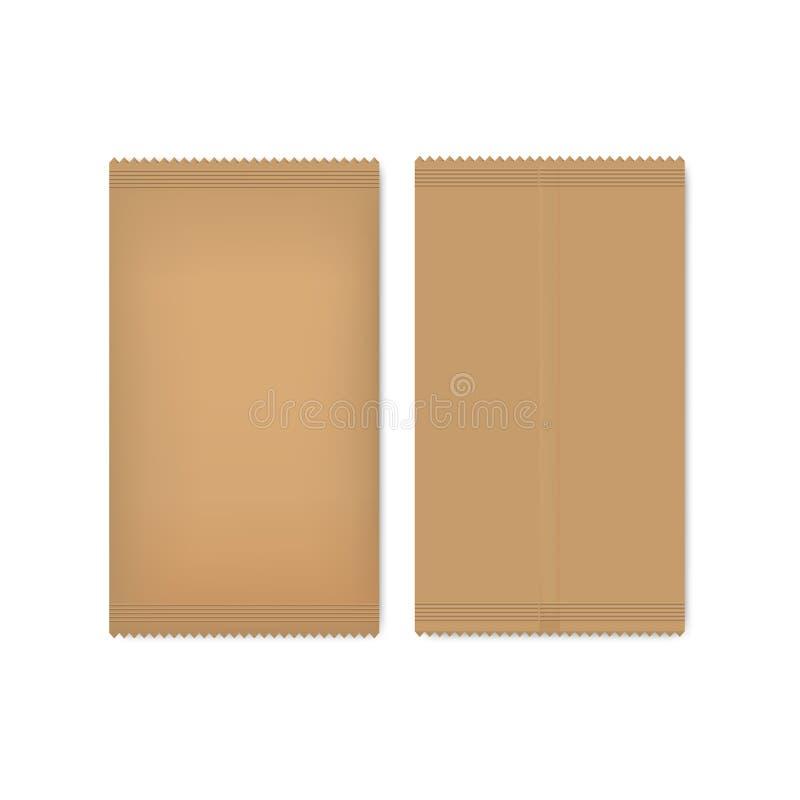 Paquete del papel de Brown para las semillas, el azúcar o la especia imágenes de archivo libres de regalías