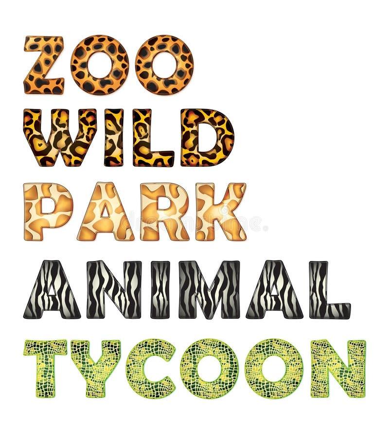 Paquete del parque zoológico ilustración del vector