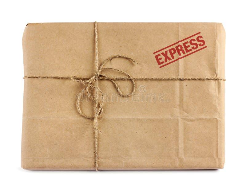 Paquete del reparto del correo de Brown foto de archivo libre de regalías
