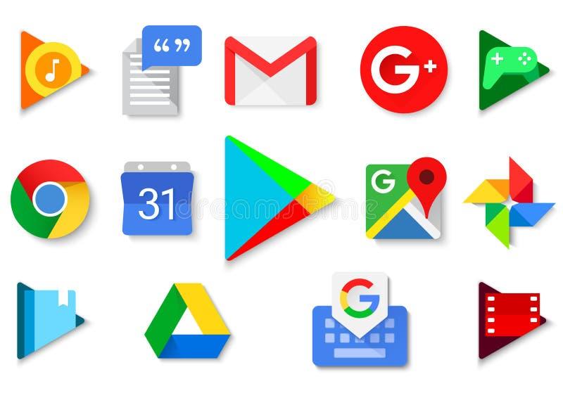 paquete del uso del defecto de Google stock de ilustración