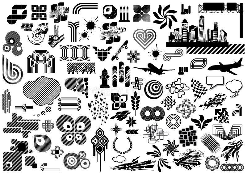 Paquete del valor: Elementos del diseño stock de ilustración
