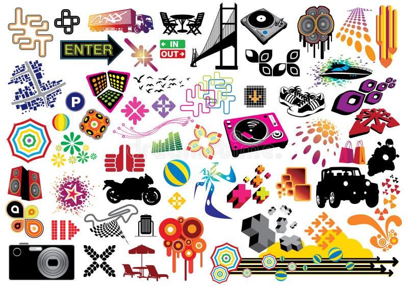 Paquete del valor: Elementos del diseño ilustración del vector