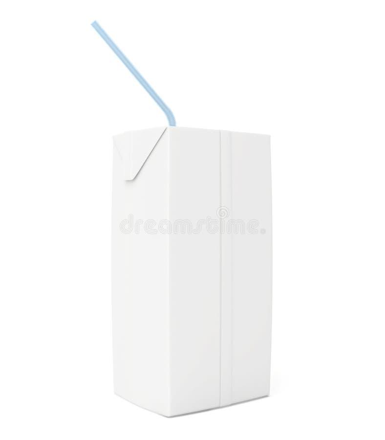 Paquete en blanco de la bebida 3d rinden en el fondo blanco ilustración del vector
