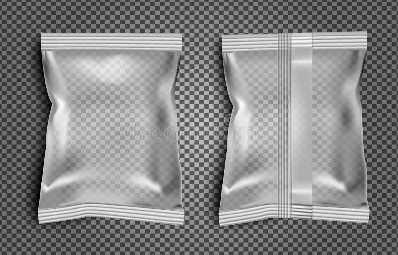 Paquete en blanco negro del bocado de la comida de la hoja para los microprocesadores, el caramelo y el otro golpecito stock de ilustración