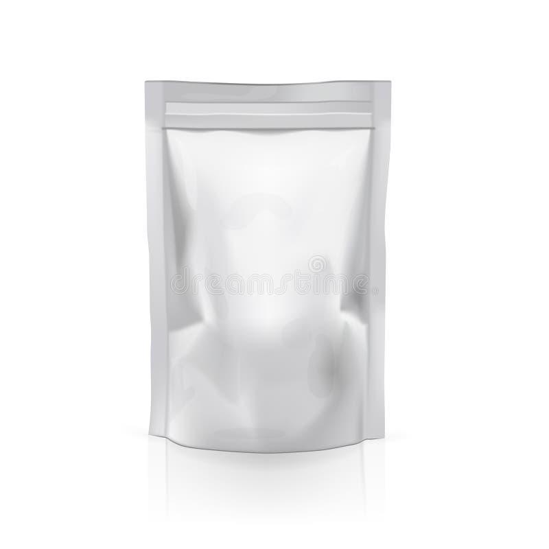 Paquete flexible del bolso de la bolsita del bocado de la bolsa de la comida realista ilustración del vector