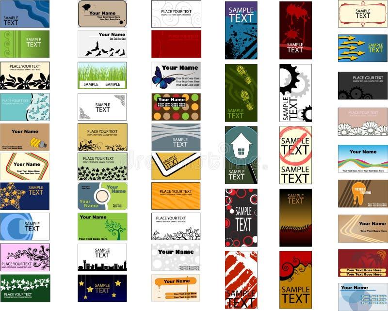Paquete grande de diversas plantillas de la tarjeta de visita libre illustration