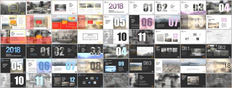 Paquete grande de plantillas limpias y mínimas de la presentación Diseño del vector de la cubierta del folleto ilustración del vector