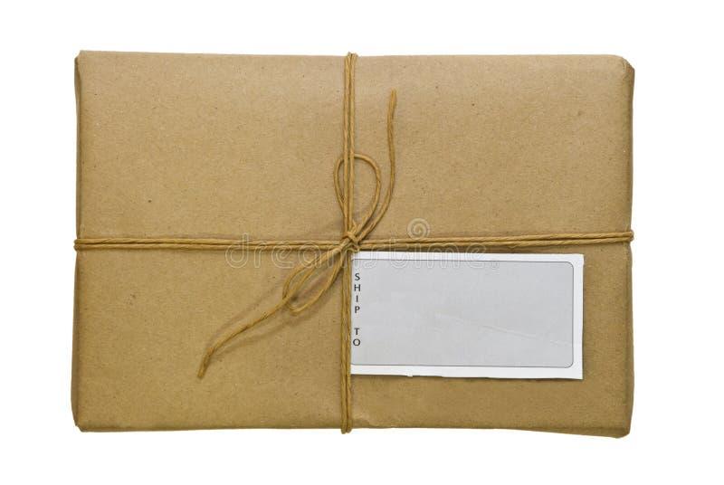 Paquete/guita y escritura de la etiqueta del conjunto imagenes de archivo