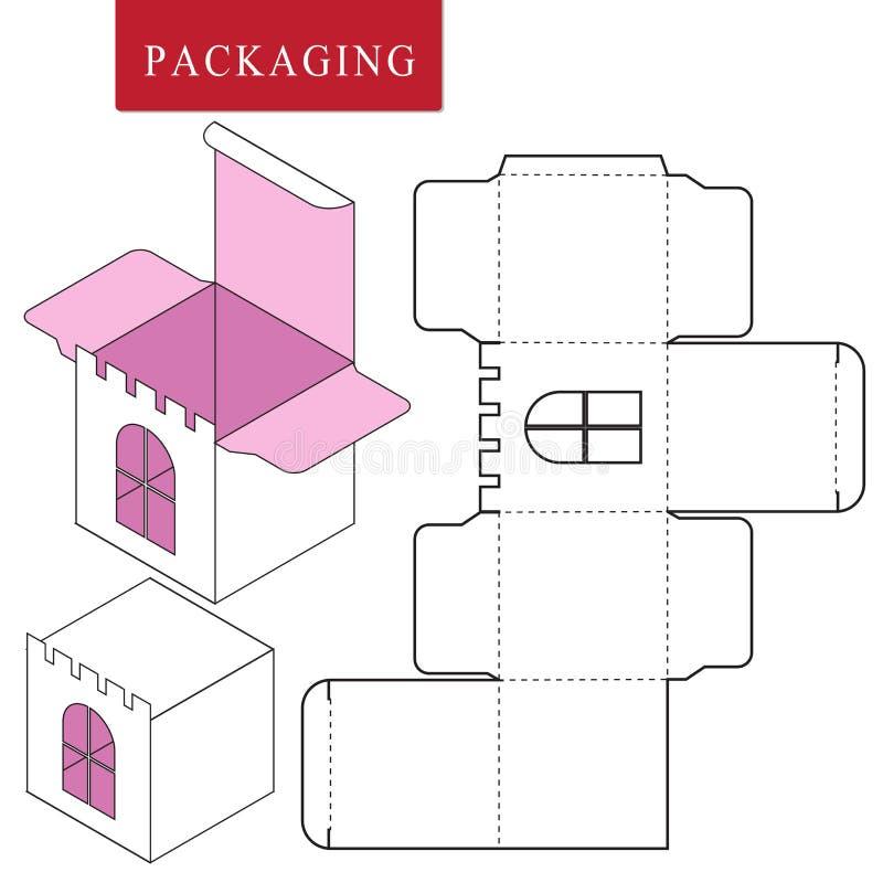 Paquete para el objeto Ejemplo del vector de la caja ilustración del vector