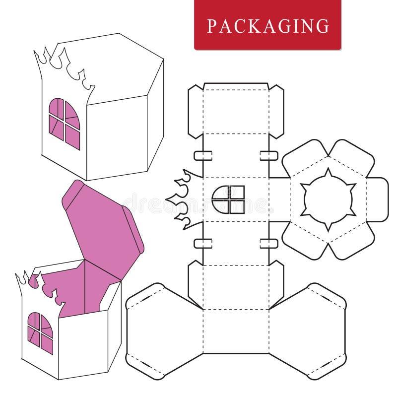 Paquete para el objeto Ejemplo del vector de la caja libre illustration