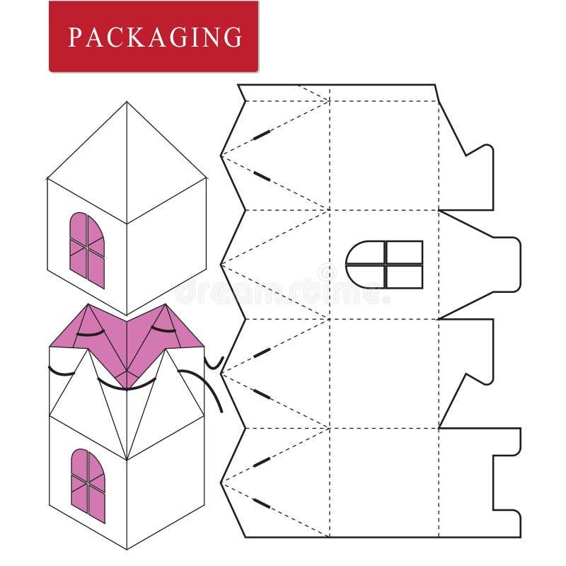 Paquete para el objeto Ejemplo del vector de la caja stock de ilustración