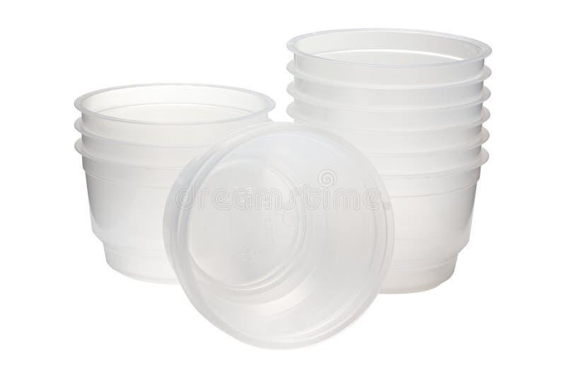 Paquete plástico para la categoría alimenticia en el fondo blanco imagen de archivo libre de regalías