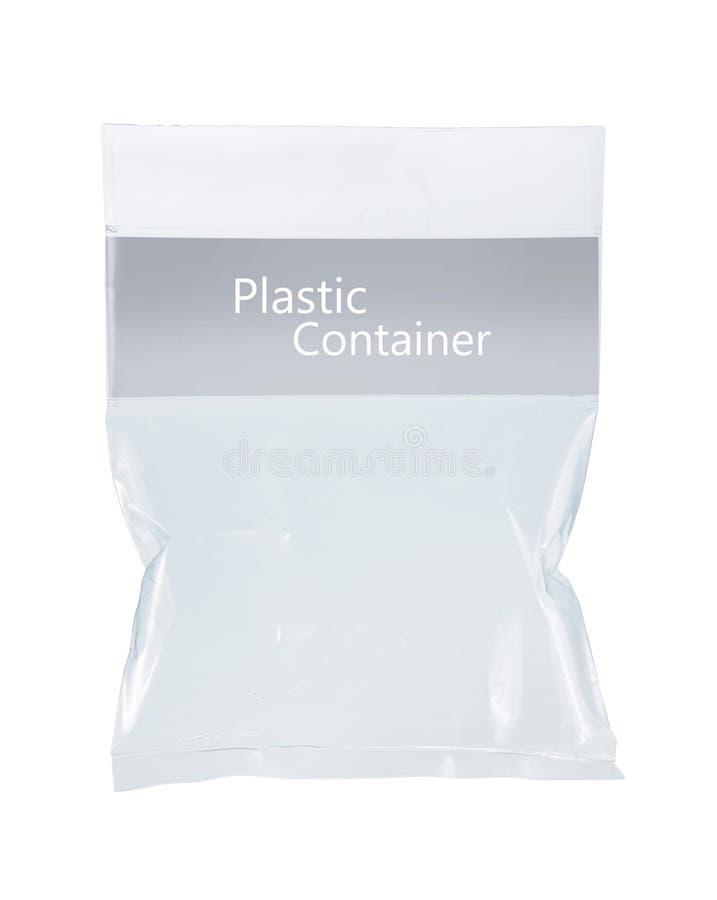 Paquete plástico transparente fotos de archivo libres de regalías