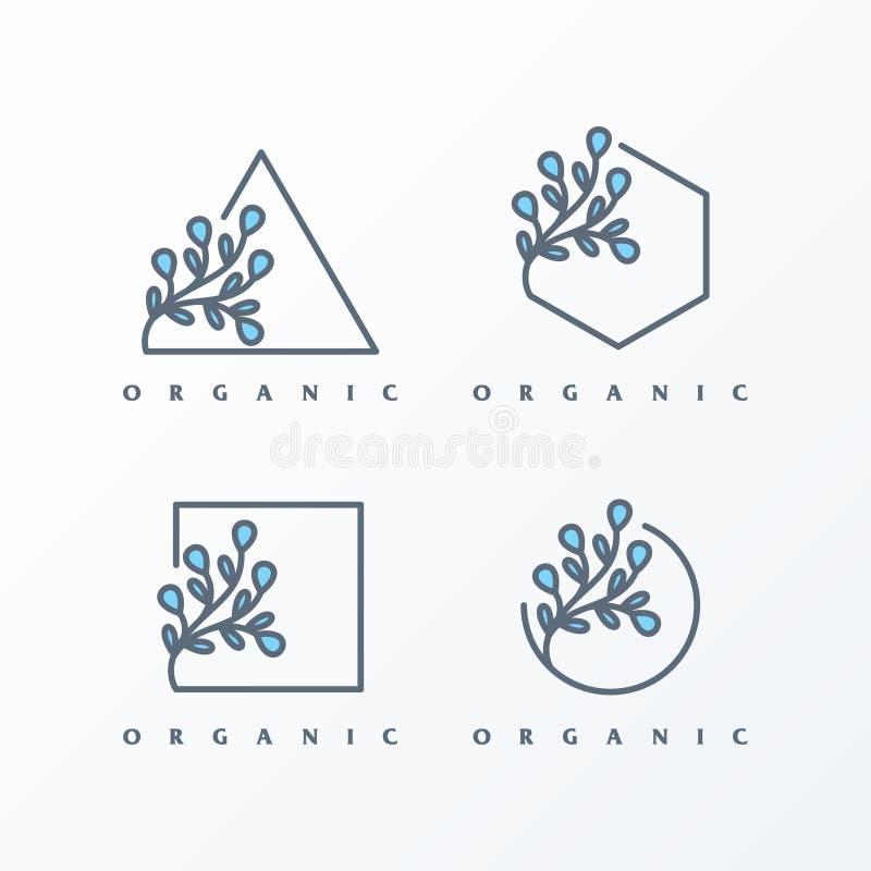 Paquete simple del ejemplo del logotipo femenino libre illustration