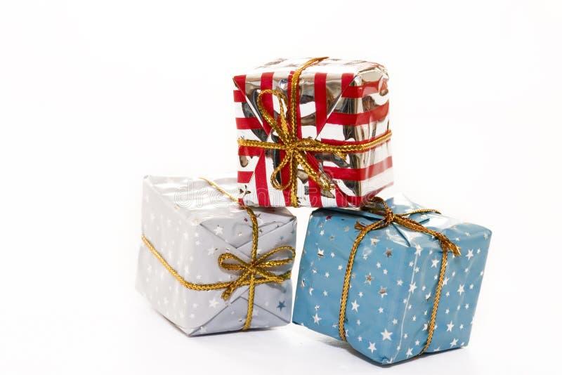 Paquetes de la Navidad foto de archivo libre de regalías