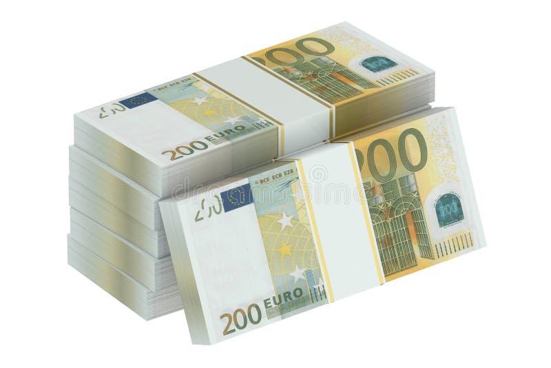 Paquetes del euro 200 fotos de archivo libres de regalías