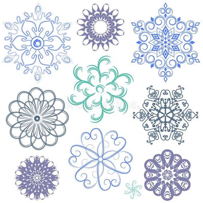 Paquetes del vector de los copos de nieve libre illustration