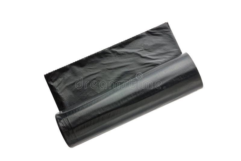 Paquetes para la basura en un fondo blanco fotos de archivo libres de regalías