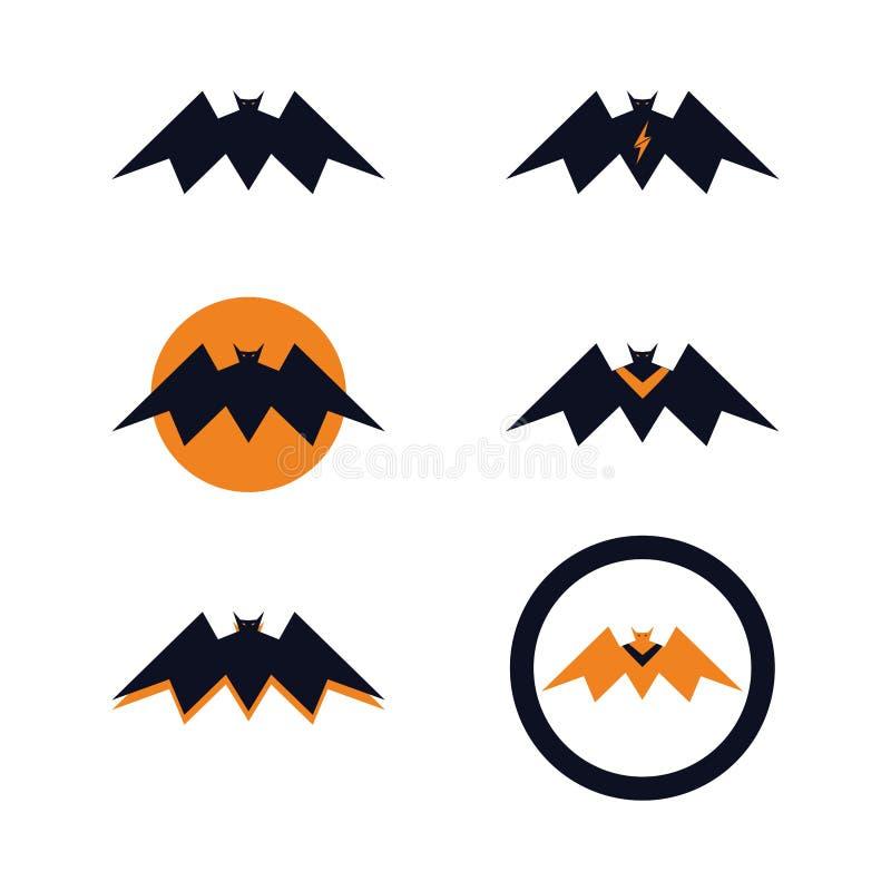 Paquets audacieux volants de concept de logo de batte illustration stock