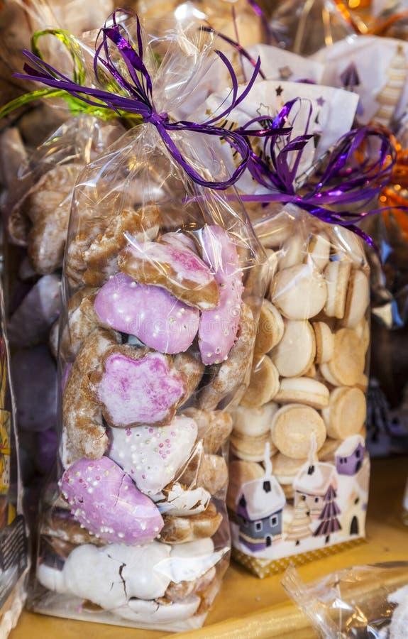 Paquets de biscuits alsaciens de fête photographie stock