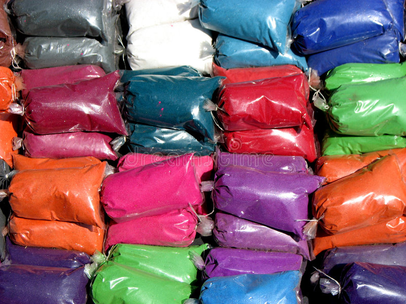 Paquets de couleur photos libres de droits