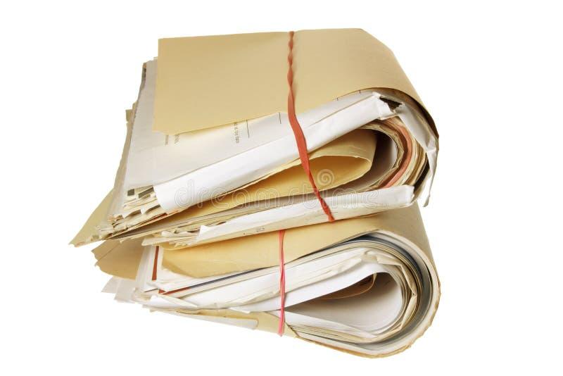 Paquets de documents photo stock