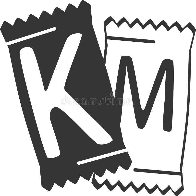 Paquets de poche de condiment - moutarde de ketchup illustration de vecteur
