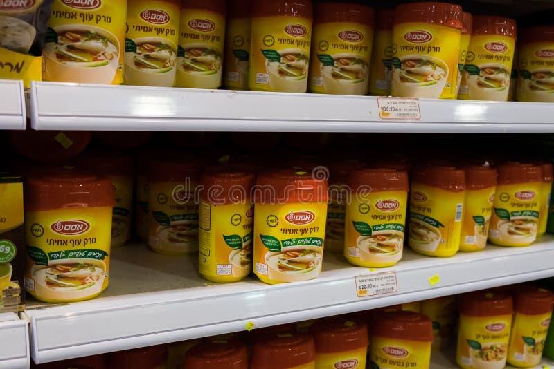 Paquets de poudre d'assaisonnement de poulet à vendre à la nourriture israélienne superbe image stock