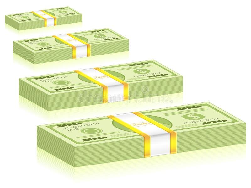 Paquets du dollar illustration stock