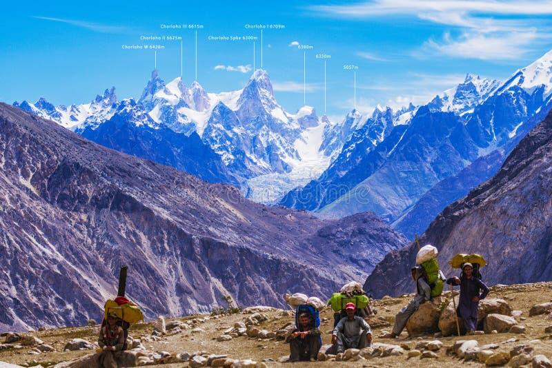 Paquistão Karakoram K2 que trekking fotos de stock