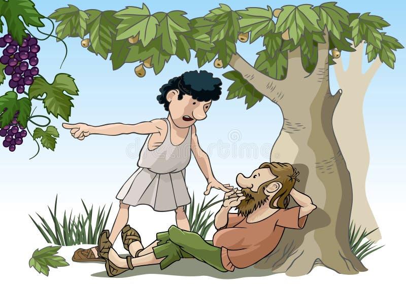 Parábola bíblica ilustração do vetor