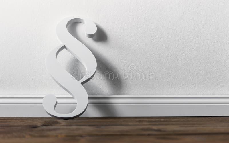 Parágrafo branco na sala fotos de stock royalty free