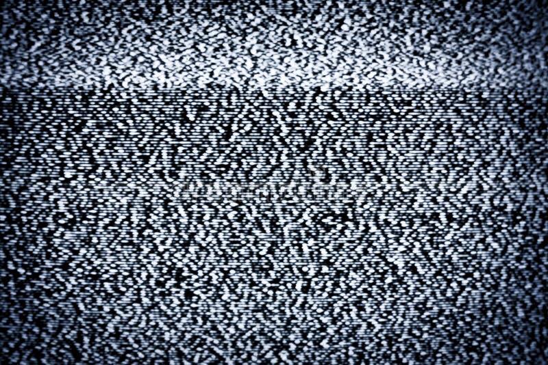 Parásitos atmosféricos verdaderos de la TV imagen de archivo