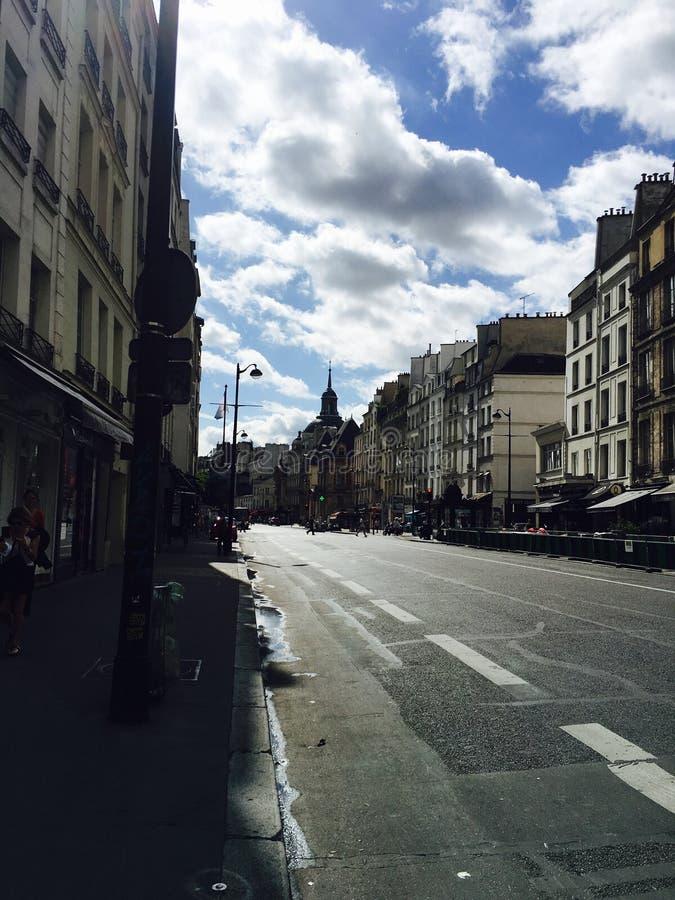 ParÃs-Straße stockbild