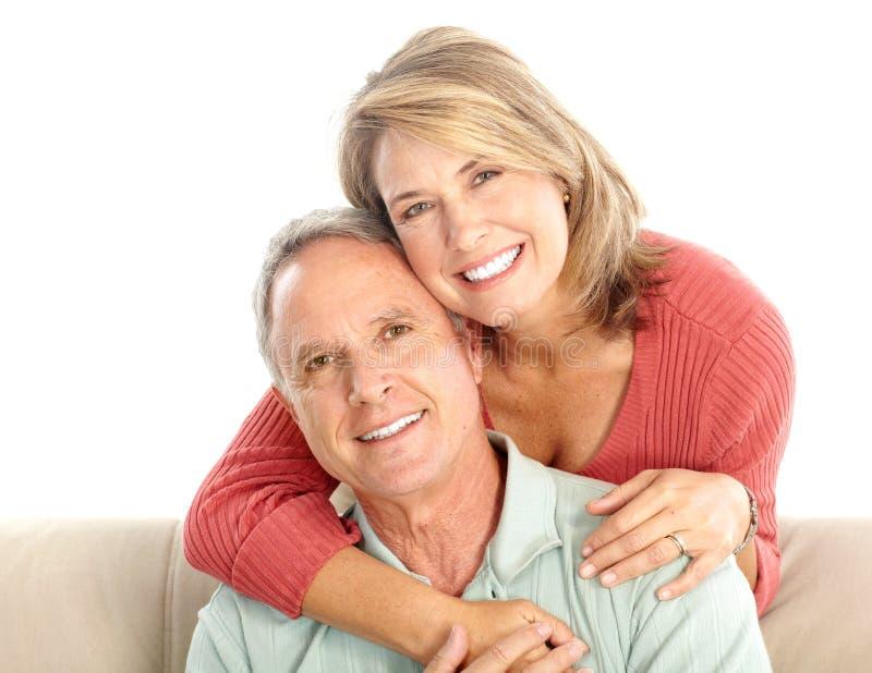 paråldringpensionärer royaltyfri foto