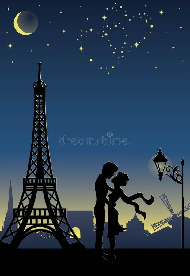 París. ilustración del vector