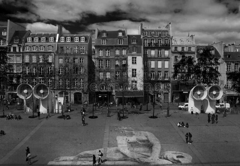 París, Centre Pompidou imagen de archivo