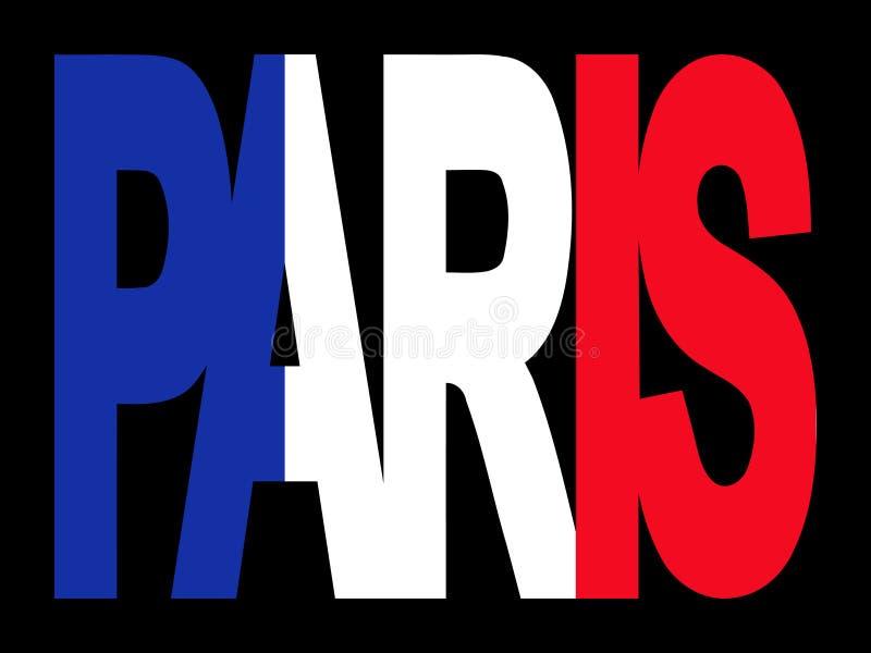 París con el indicador francés stock de ilustración