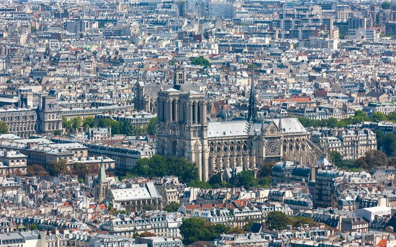 París, Francia, paisaje urbano Catedral de Notre Dame en el centro de París fotografía de archivo