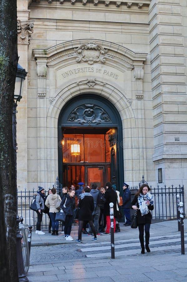 París, Francia - 02/10/2015: Universidad de París, Sorbonne foto de archivo libre de regalías