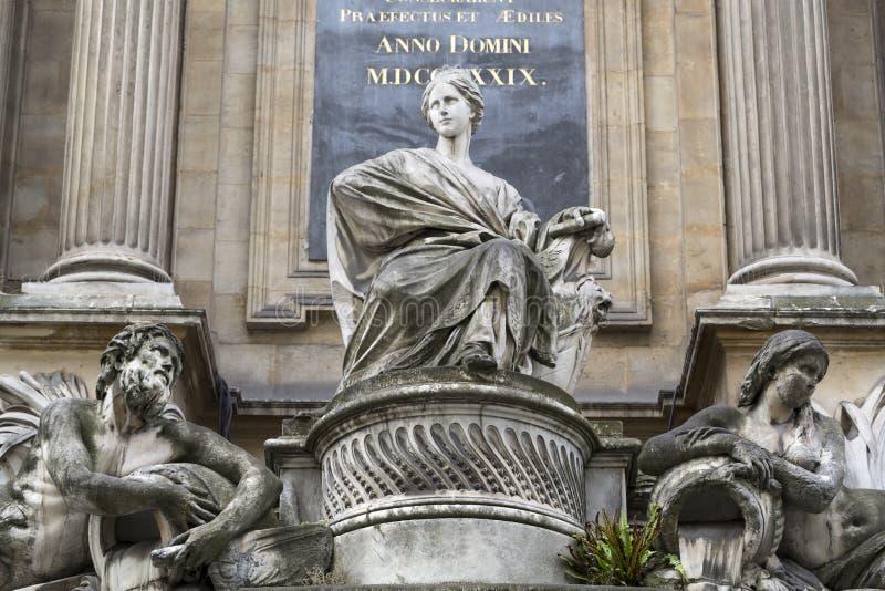 París - fuente de las cuatro estaciones fotografía de archivo libre de regalías